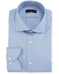 Ike Behar - Gold Label Textured Cotton Dress Shirt - Lyst