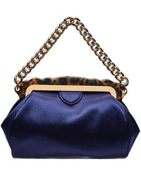 Edie Parker - Aliza Framed Satin Chain-handle Clutch Bag - Lyst