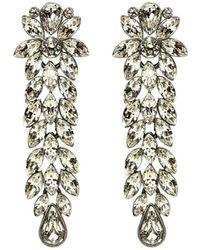 Ben-Amun Large Crystal Drop Earrings - Metallic