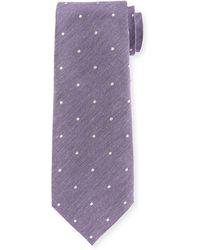 Tom Ford - Melange Small-dot Silk/cotton Tie - Lyst