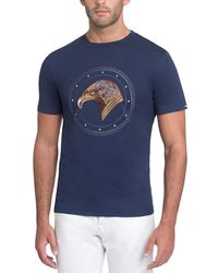Stefano Ricci - Stitched Eagle Graphic T-shirt - Lyst