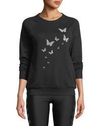 Ultracor - Butterfly Swarovski Crewneck Sweatshirt - Lyst