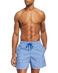 5e0a49d526 Vilebrequin Mahina Crab Royal Print Packable Swim Trunks in Blue for ...