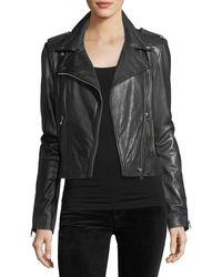 Lamarque - Donna Classic Leather Biker Jacket - Lyst