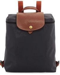 Longchamp Le Pliage Nylon Backpack, Gunmetal - Black