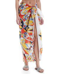 Tory Burch | Printed Cotton-silk Sarong | Lyst