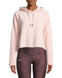 Under Armour - Microthread Fleece Cropped Hoodie - Lyst