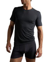 Hanro - Woolen Silk T-shirt Gry - Lyst