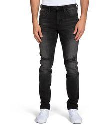 PRPS Men's Faded Distressed Jeans - Black