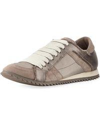 Pedro Garcia - Cristina Satin Lace-up Trainer Sneaker - Lyst