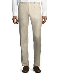 Zanella Rasolino Cotton-linen Pants - Natural