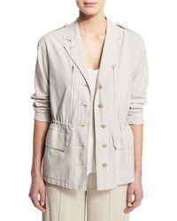 ATM - Cotton Button-front Field Jacket - Lyst