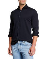Brunello Cucinelli - Men's Jersey Knit Sport Shirt - Lyst