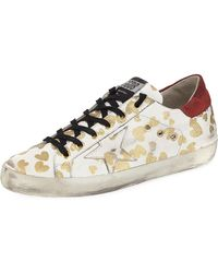 Golden Goose Deluxe Brand - Superstar Hearts Lace-up Sneakers - Lyst