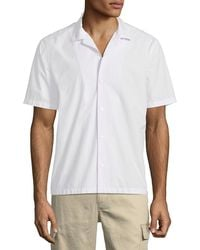 Vince - Men's Poplin Short-sleeve Cabana Shirt - Lyst