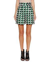 Emporio Armani - Check-jacquard Shorts - Lyst