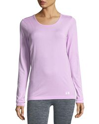 Under Armour - Scoop-neck Seamless Performance Top - Lyst