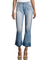 Alice + Olivia - Tasha High-waist Cropped Jeans With Released Hem - Lyst