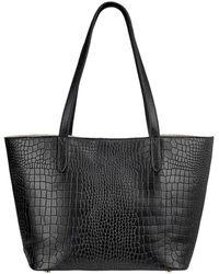 Gigi New York Teddy Alligator-print Tote Bag - Black
