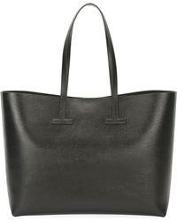 Tom Ford - Saffiano Leather T Tote Bag - Lyst