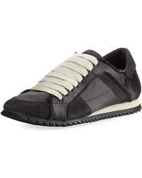 Pedro Garcia Cristina Satin Lace-up Sneaker Sneakers - Black
