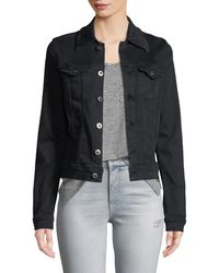 AG Jeans - Robyn Button-front Fitted Cropped Denim Jacket - Lyst