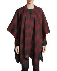 Woolrich - Plaid Oversized Cashmere Cape - Lyst