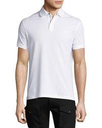 Ralph Lauren - Front-zip Piqué Polo Shirt - Lyst