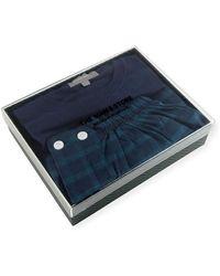 Neiman Marcus - Two-piece Plaid Pajama Gift Set - Lyst