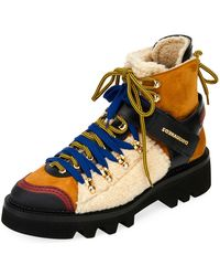 DSquared² - Colour-block Hiking Boots - Lyst