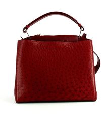 VBH - Seven Ostrich & Vitello Satchel Bag - Lyst