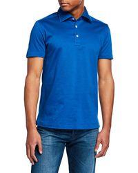 Kiton - Men's Cotton Knit Polo Shirt - Lyst