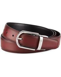 Ermenegildo Zegna - Men's Reversible Burnished Leather Belt - Lyst
