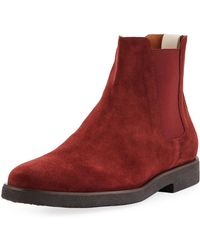 Common Projects - Men's Calf Suede Chelsea Boots - Lyst