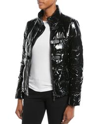 Emporio Armani - Shiny Quilted Puffer Jacket W/ Hook Closure - Lyst