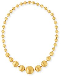 "Marco Bicego - 18k Gold Africa Necklace, 17"" - Lyst"