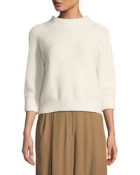 3.1 Phillip Lim - 3/4-sleeve Lofty Rib Alpaca-blend Pullover Sweater - Lyst