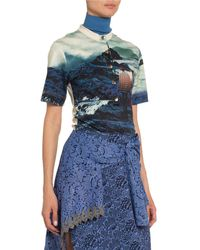 Chloé Landscape -print Cotton T-shirt - Blue