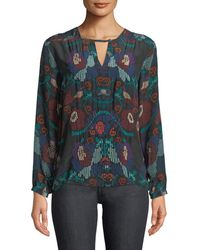 Tolani - Caitlyn Long-sleeve Multicolor Embroidered Blouse - Lyst