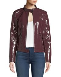 Neiman Marcus - Patent Leather Moto Jacket - Lyst