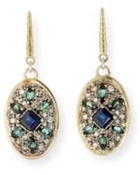 Armenta Old World Diamond Pave Oval-drop Earrings - Multicolour