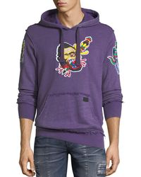 PRPS - Money Embroidered Distressed Hoodie - Lyst