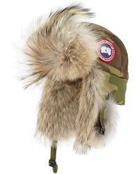 Canada Goose Coyote-fur Aviator Hat - Multicolour