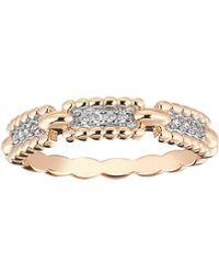 Kismet by Milka Beads 14k Diamond One-row Ring, Size 6.75 - Metallic