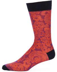 Etro Calza Corta Cotton Socks - Orange