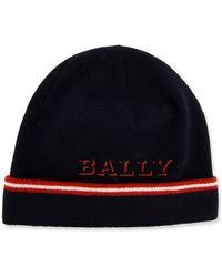 7be78487d2d Lyst - Bally Trainspotting Stripe Beanie Hat Men ́s Wool Hat In ...