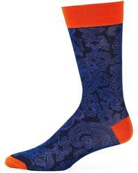 Etro Calza Corta Cotton Socks - Blue