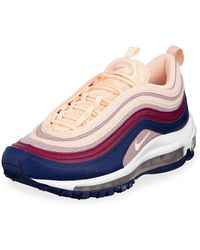 Nike Air Max 97 Leather Running Sneakers - Pink