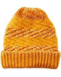 Rebecca Minkoff - Blocked Yarn Slouchy Beanie Hat - Lyst