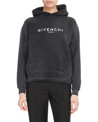 Givenchy - Paris Destroyed Hooded Sweatshirt - Lyst